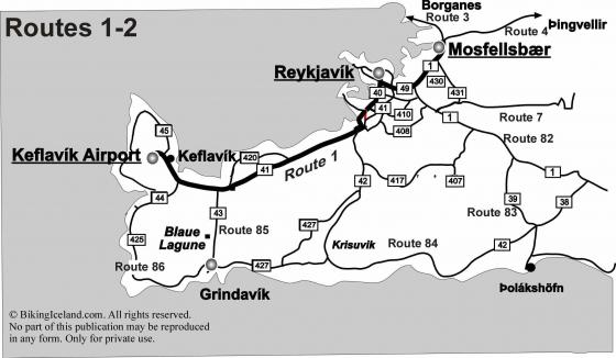 Iceland Route 1 to 2