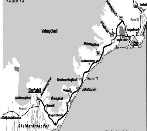 Route Iceland 73
